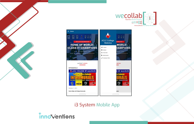i3 System Mobile App