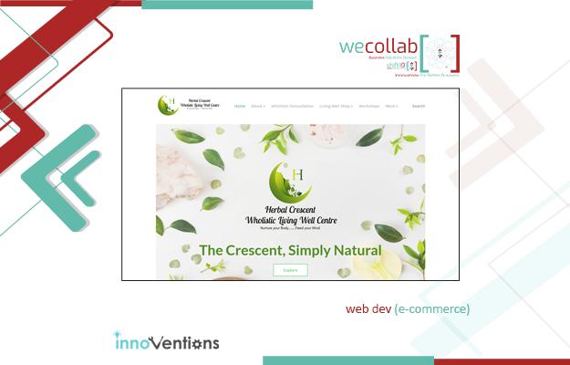 E-Commerce Website (Herbal Crescent)