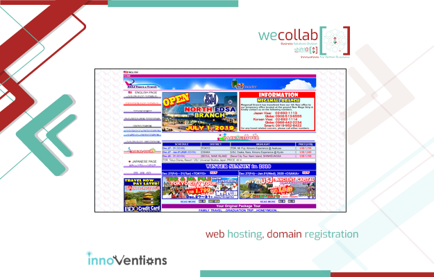 Web Hosting, Domain Registration (RELI Tours and Travel)